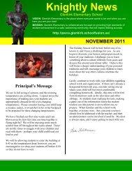 Knightly News - Glenkirk Elementary School