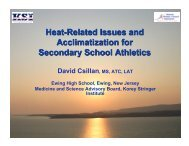 Heat-Related Issues and Acclimatization for Secondary School ...