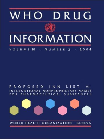 WHO Drug Information Vol. 18, No. 2, 2004 - World Health ...