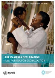 the kampala declaration and agenda for global action - World Health ...
