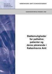 Støttemuligheder for palliative patienter og deres pårørende i ...