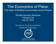 The Economics of Place - Michigan Local Government Management ...
