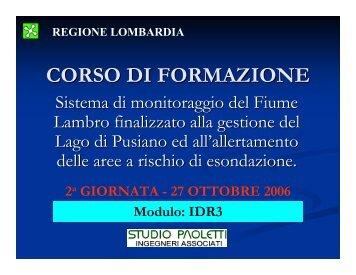 CORSO DI FORMAZIONE
