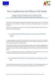 Alliance Villes Emploi - Fonds Social Européen en France