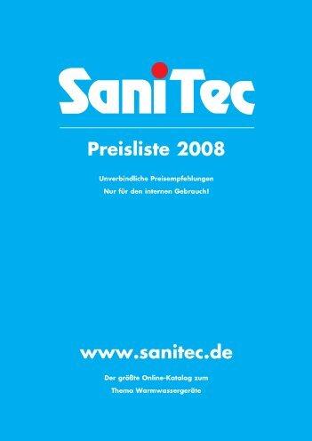 www.sanitec.de Preisliste 2008 - SaniTec Produkthandel GmbH