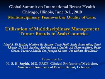 El Saghir - Breast Health Global Initiative