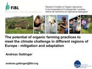 The potential of organic farming practices to meet ... - ORGANIC DAYS