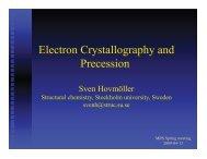 Electron Crystallography and Precession