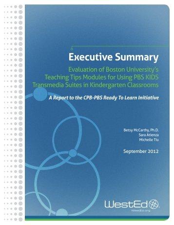 Executive Summary - PBS Kids