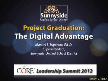 The Digital Advantage - Sunnyside Unified School District