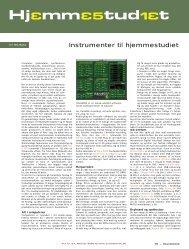 Instrumenter til hjemmestudiet - Soundcheck