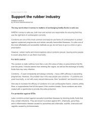 Support the rubber industry - PrimaNora Medical Centre