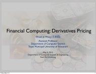 Financial Computing: Derivatives Pricing