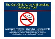 The Quit Clinic As an Anti-smoking Advocacy Tool - MAPTB