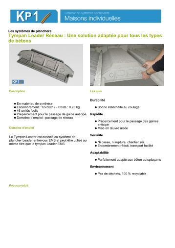 entrevous leader ems m2 kp1. Black Bedroom Furniture Sets. Home Design Ideas