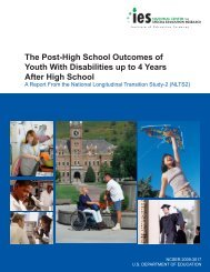 The Post-High School Outcomes of Youth With Disabilities ... - NLTS2