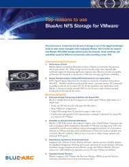 Top reasons to use BlueArc NFS Storage for VMware - Moderntech ...