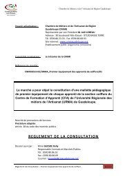 REGLEMENT DE LA CONSULTATION - la cmar
