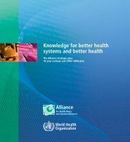 Knowledge for better health systems and better health