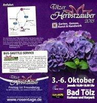 3.-6. Oktober - Tölzer Rosentage