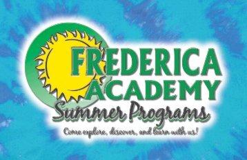 Summer Programs Brochure - Frederica Academy