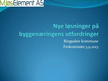 MjøsElement AS - Ringsaker kommune