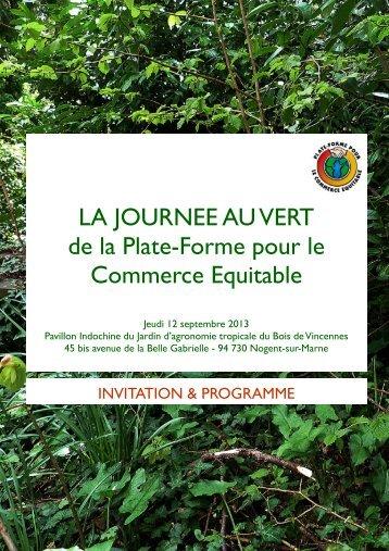 programme - la Plate-Forme pour le Commerce Équitable