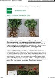 BayWa Deutschland: Agrosol - Die neue Düngetechnologie