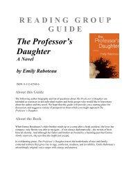 READING GROUP GUIDE - Macmillan