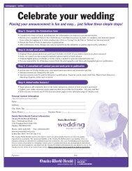 Celebrate your wedding - Omaha.com