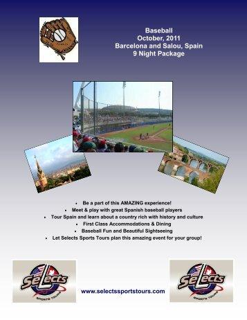 Baseball October, 2011 Barcelona and Salou ... - Selects Sports