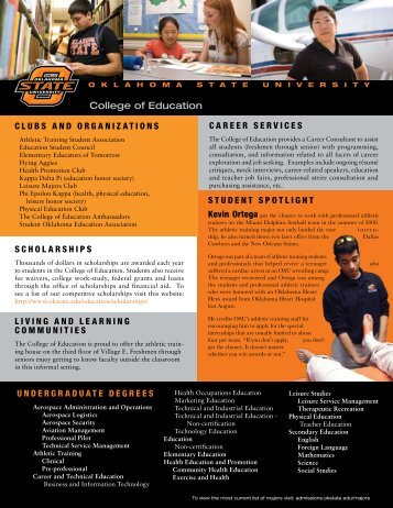 College of Education - Office of Undergraduate Admissions