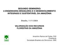 Valorização dos Recursos Florestais da Amazônia - Sociedade ...