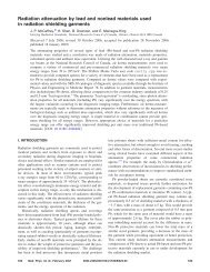 Radiation attenuation by lead and nonlead ... - ResearchGate