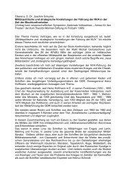 Militärpolitische und strategische Vorstellungen der ... - AGGI-INFO.DE