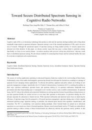 Toward Secure Distributed Spectrum Sensing in Cognitive ... - ARIAS