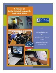 A Primer on Early Voting Proposal in New York State