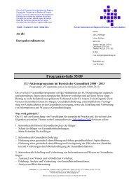 EU-Aktionsprogramm im Bereich der Gesundheit 2008