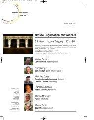 Rundbrief Oktober 2012 - Cantina del Mulino