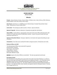 Minutes 01-10-2012 - Charles Village Community Benefits District