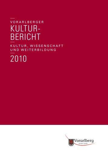 Kulturbericht 2010 - Vorarlberg
