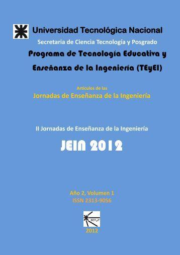 Artículos JEIN 2012 Vol 1 - SICyT - Universidad Tecnológica Nacional