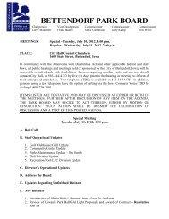 July 10-11, 2012 Agenda - City of Bettendorf