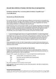 Accueil des enfants en Suisse - SSP - Vaud / Syndicat des services ...