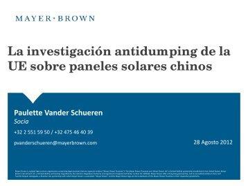 La investigación antidumping de la UE sobre paneles ... - AFASE