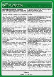 7. Ausgabe Juni/Juli 2011 - Fachschaft Medizin RWTH Aachen