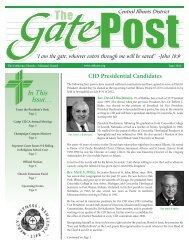 In This Issue... - Central Illinois District - Lutheran Church Missouri ...