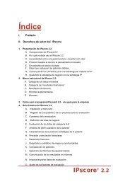 2. Marco estructural de IPscore® 2.2 - Inapi Proyecta
