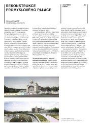 REKONSTRUKCE PRŮMYSLOVÉHO PALÁCE - Architekt
