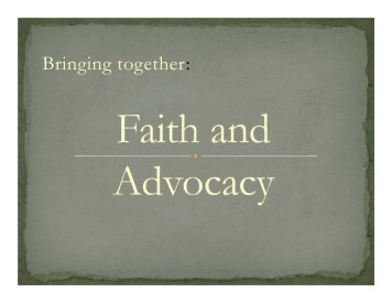 Slides - Ecumenical Advocacy Days